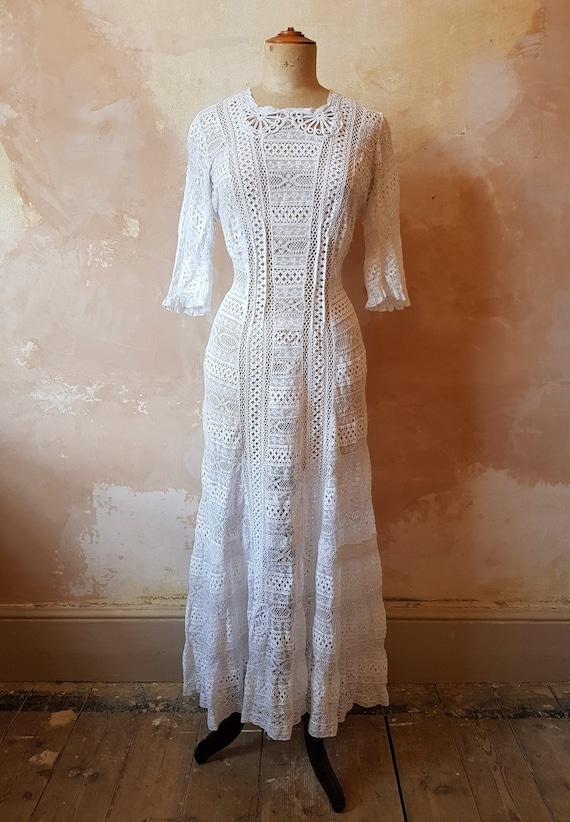 Edwardian Lace Dress Small UK Size 8