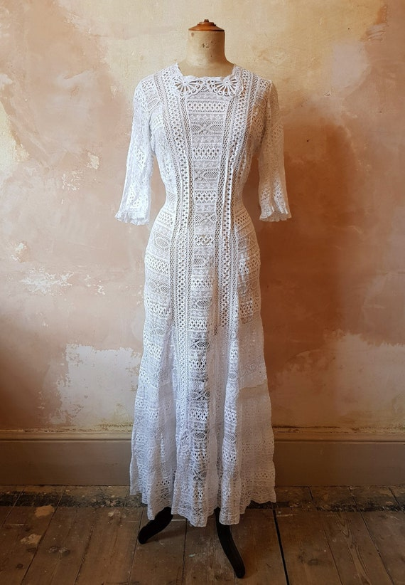 Edwardian Lace Dress Small UK Size 8