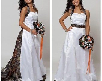 Camo Wedding Dress Etsy