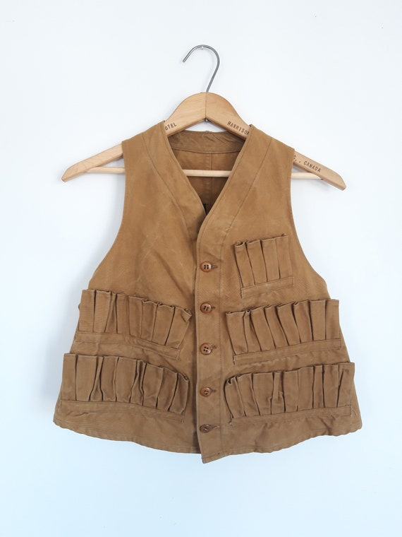 1930's Red Head Canvas Hunting Vest