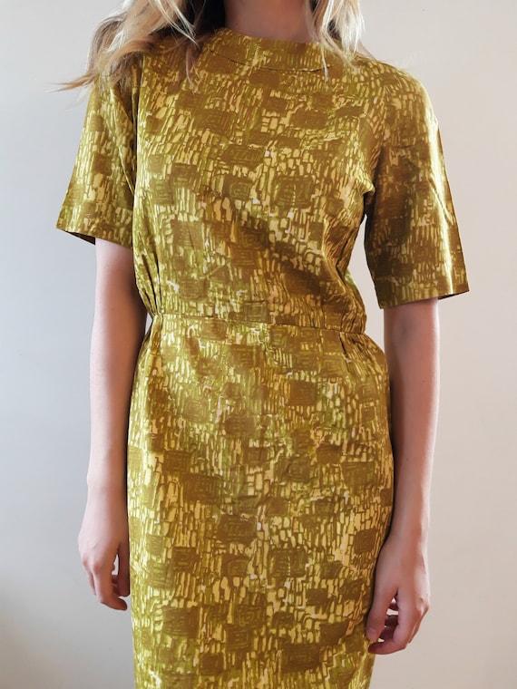 1950's Uranium Green Dress