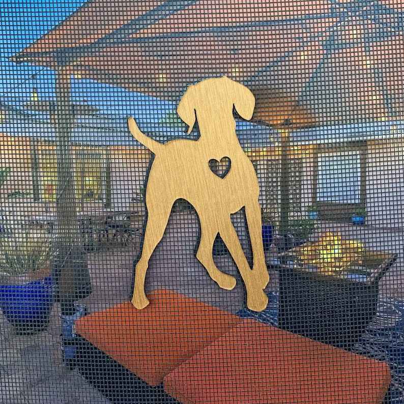 DOG Can also be used as 2 fridge magnets Magnets Screen Door Saver Screen Door Magnet - Magnetic Screen Door Saver Inside-Out Set