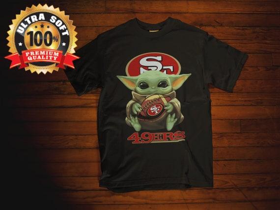 Superbowl Baby Yoda Inspired Vintage Look 49ers Fan Star Etsy