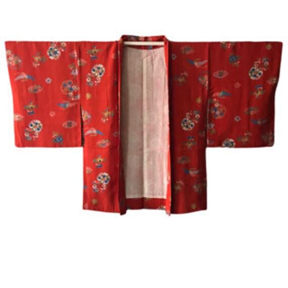 Vintage Japanese  Silk Jacket Haori