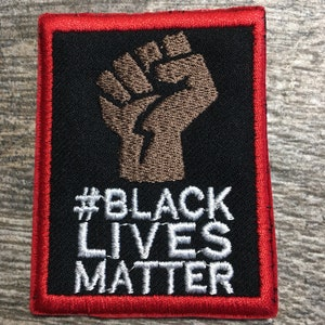 We Cant Breathe Fist Up Embroidered Iron on Patch Black Power Anti Racist