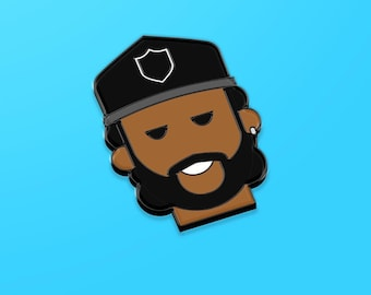 Ice Cube hard enamel pin, hip hop gift