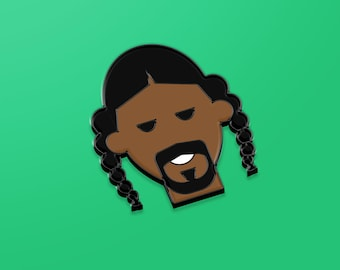 Snoop Dogg hard enamel black pin, hip hop gift, hip hop birthday