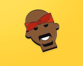 2Pad hard enamel black pin, hip hop gift