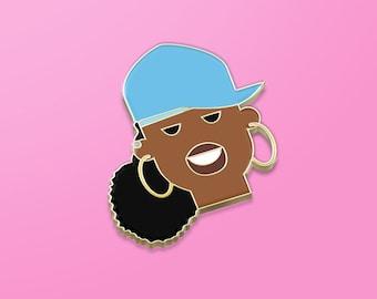 Limited Edition – Gold Missy Elliot hard enamel pin, hip hop gift