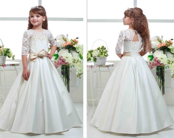 Items similar to First Communion Dress,Communion Gown, White ...