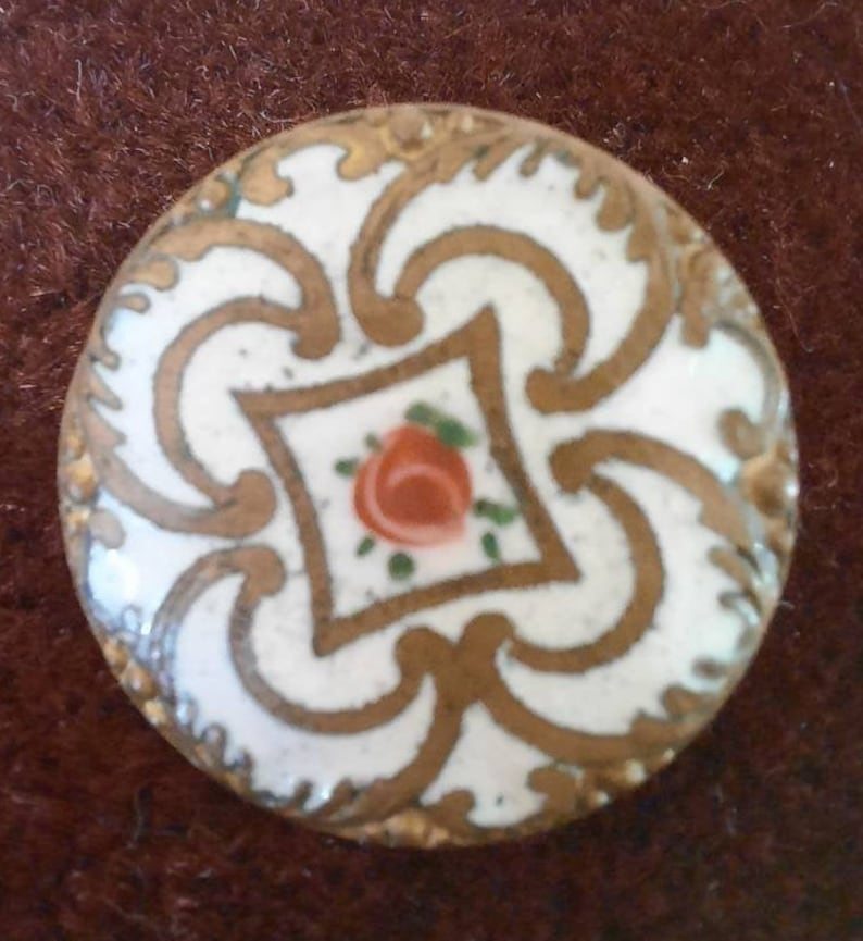 20mm diameter. 1 antique french champleve button