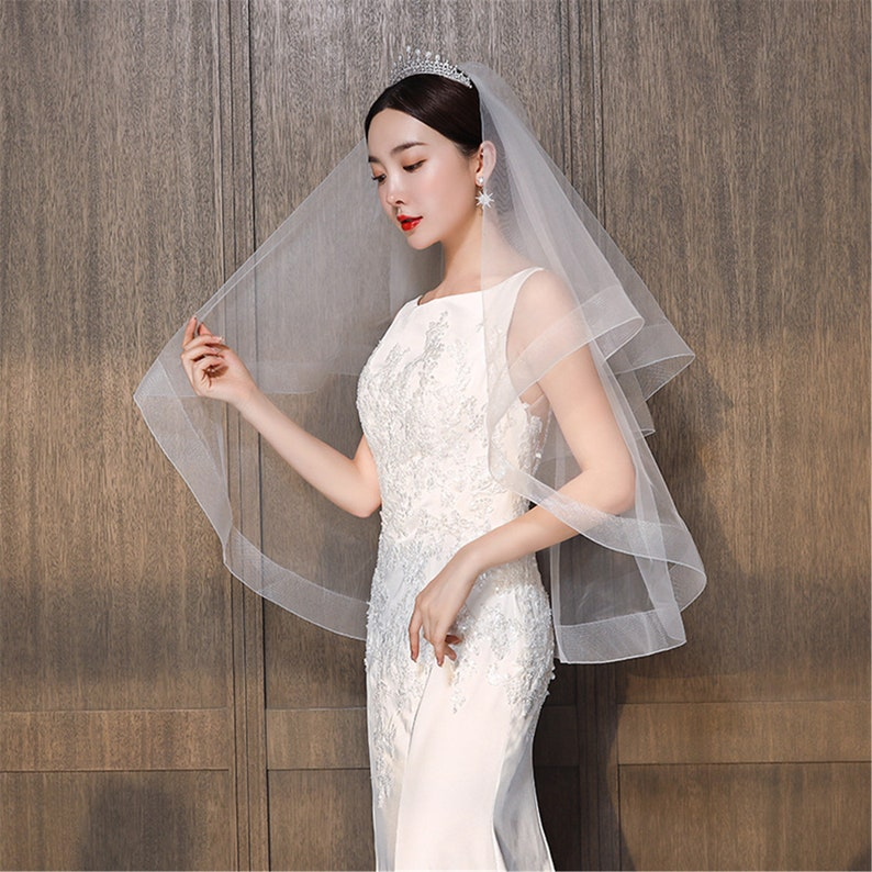 wedding veil,bridal veil,simple style