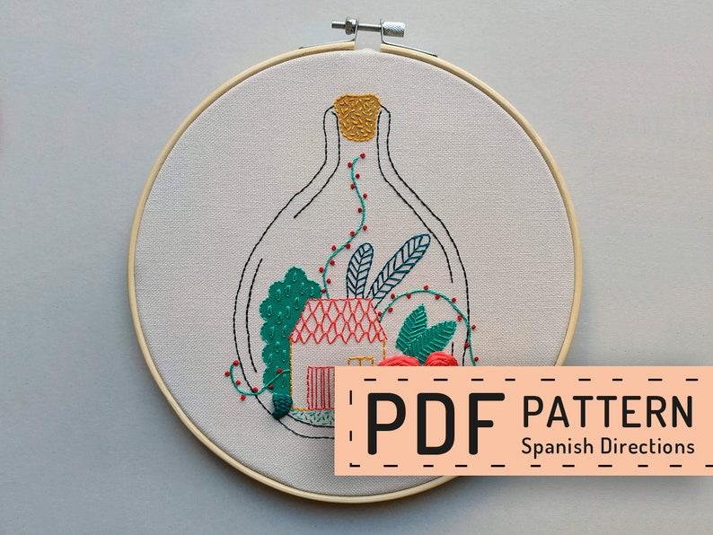 Hand embroidery pattern PDF digital download hoop art DIY image 0