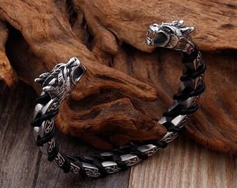 Blacksmith Made Runic Viking Primitive Torc of Married Metal Bronze Torc