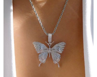 cute animal necklace silver butterfly necklace butterfly necklaces cute butterfly necklace dainty necklace bridesmaid gift