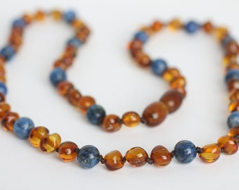 Overlaped Amber Bead Necklace 48cm  19/'/'  16g. Fine Baltic Amber Necklace Amber Adult Necklace Authentic Amber Necklace