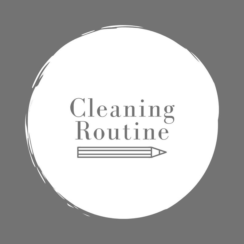 Cleaning Routine .PDF Template image 0