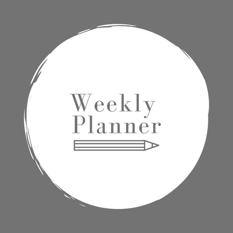 Weekly Planner Printable .PDF image 0