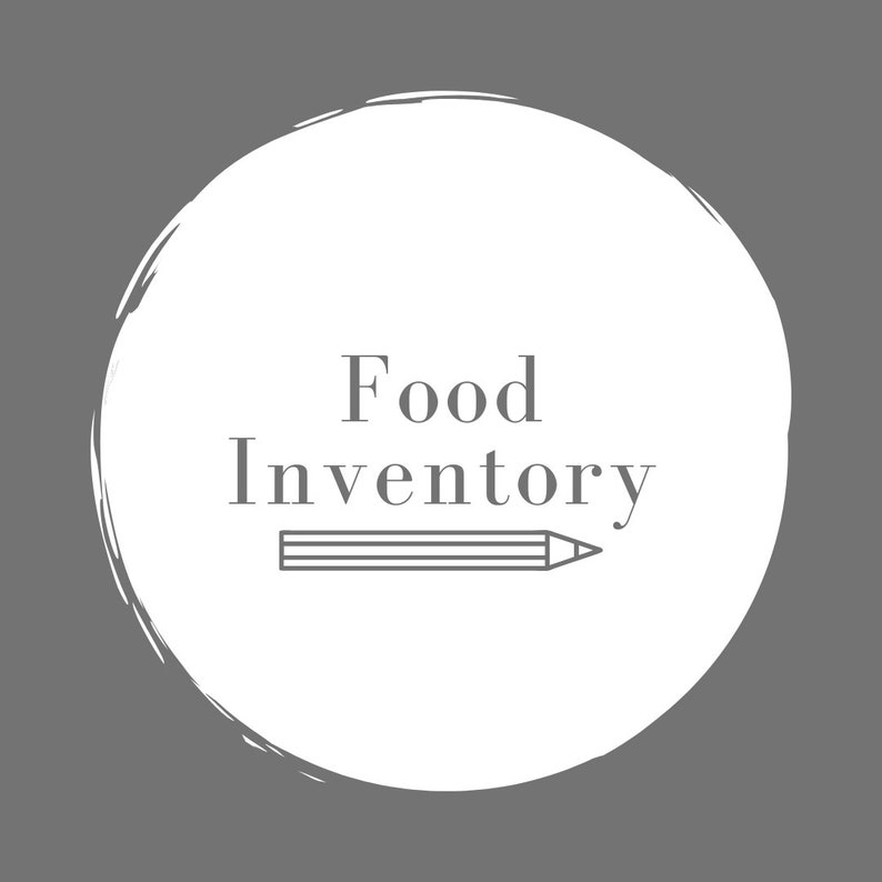 Food Inventory Excel Sheet image 0
