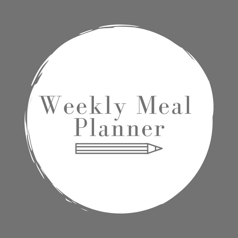 Weekly Meal Planner Printable .PDF image 0