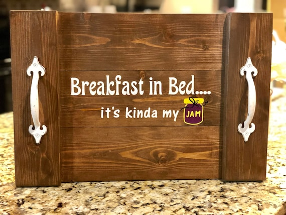 Custom Wood Serving Tray Custom Order Persoanlized Kitchen Accessories