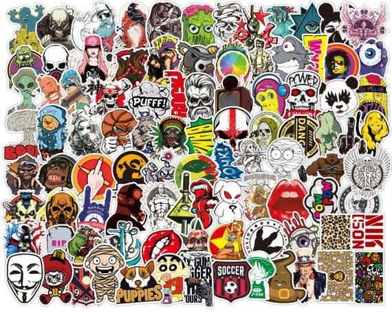 100 Cute Skateboard Stickers bomb Vinyl Laptop Luggage Decals Dope Sticker Lot