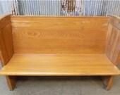 4 39 Vintage Church Pew Bench, Entryway Bench, Farmhouse Furniture, Wooden Bench C, Church Pew Furniture, Rustic Pew, Church Pew, Wedding