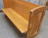 5 39 Vintage Church Pew Bench, Entryway Bench, Farmhouse Furniture, Wooden Bench F, Farmhouse Oak Church Pew, Wedding Decor, Rustic Bench