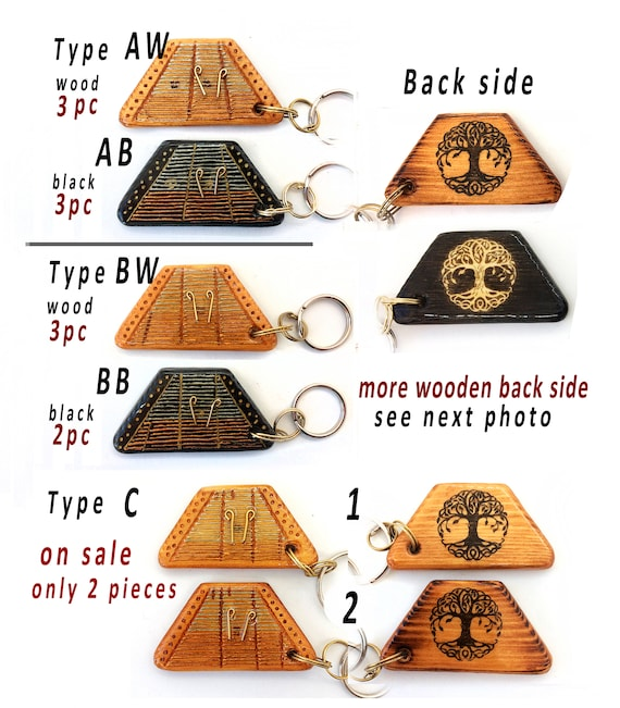Personalized Hammered dulcimer wooden keychain /& Four leaf clover Original gift idea Music day Cimbalom. music lovers Miniature keyring