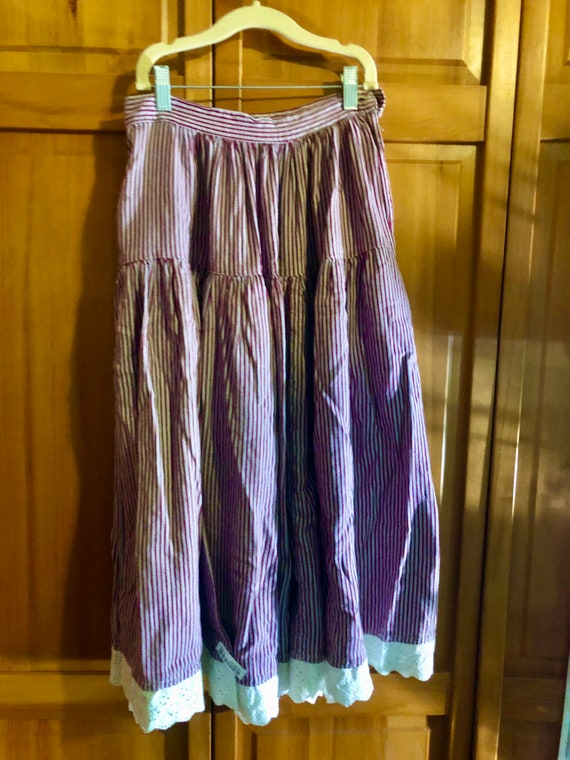 Vintage 70's does 40s Striped Skirt