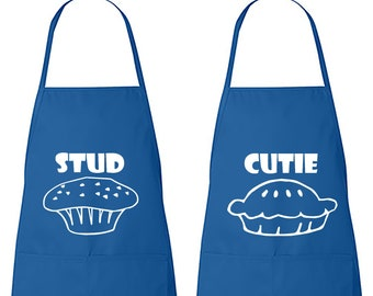 Set of Fun   Stud Muffin   Cutie Pie   His and Hers   Chef   Matching Couples   Cook   Apron  Gift   Kitchen