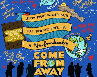 COME FROM AWAY Inspired Embroidery Patch