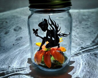 friend wedding gift for mum sister birthday decoration party Light-up fairy jar centrepieces