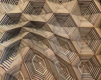 Hexa - unique mandala, sacred geometry, wall art, home décor, housewarming gift, bedroom wall art, living room wall art, laser cut.