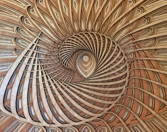 Hypnos Alpha - unique mandala, sacred geometry, wall art, home décor, housewarming gift, bedroom wall art, living room wall art, laser cut.