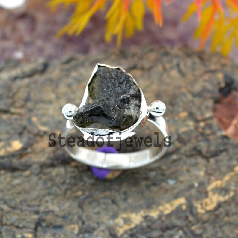 Natural Tourmaline Rough,925 Sterling Silver Solid Ring Statement Ring Unique Jewelry Ring Boho Ring,Vintage Ring Anniversary,Wedding Ring
