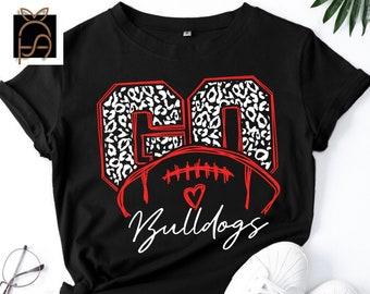 Go Bulldogs svg, Football SVG, Cameo, Cricut, mama svg,Bulldogs svg,cheerleader,iron on,Go Bulldogs Leopard svg, Love Bulldogs svg,Heart svg