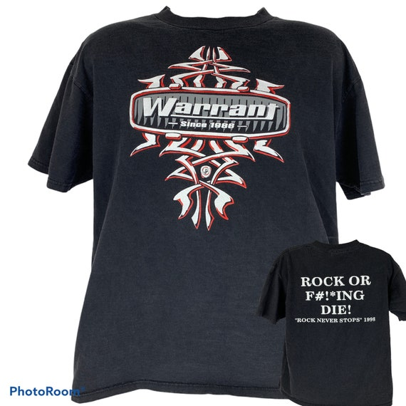 Vintage Warrant Rock or F#!*ing Die! XL X-Large T-