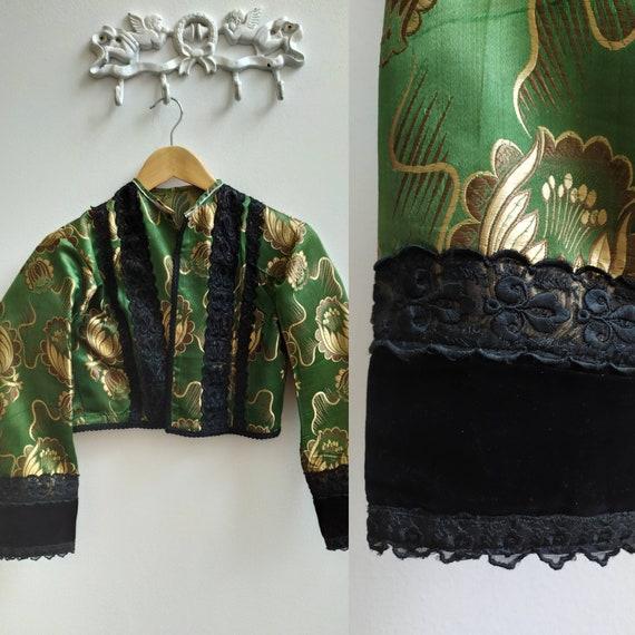 Hungarian silk brocade blouse