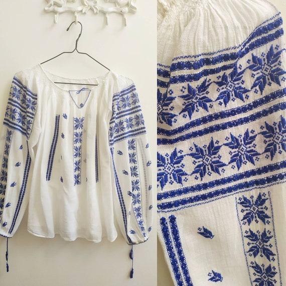Vintage Romanian blouse