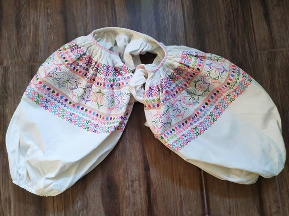 Antique Slovakian folk clothing  embroidered sleev