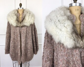 Supple FOX Fur Collar oversized with attaching clip.