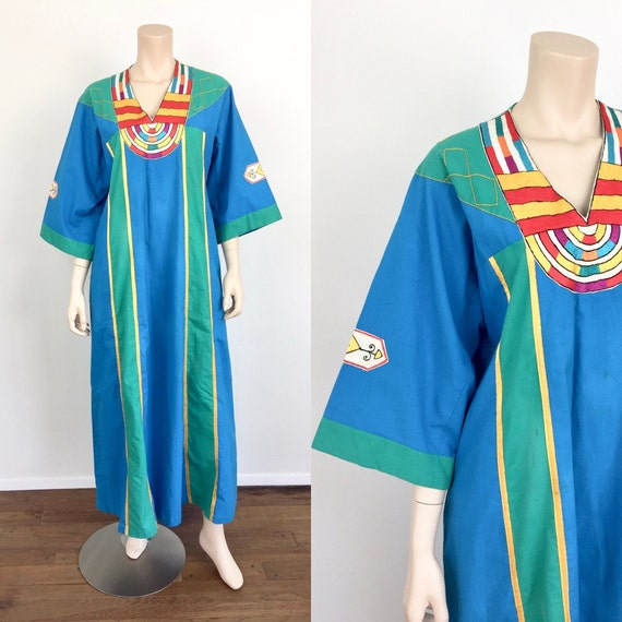 Vintage 1970s EMBROIDERED Hippie / Boho Loose Fit