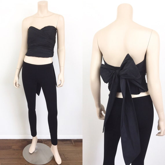 ARMANI Pleated Strapless BUSTIER CORSET Top with B