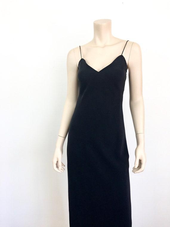 Vintage 1990s BLACK Bias Cut SILK Minimalist Slip
