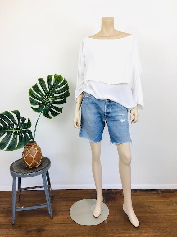 1980s Vintage LAISE ADZER Style White LAYERED Mor… - image 2