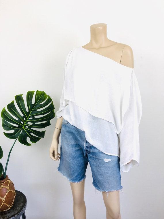 1980s Vintage LAISE ADZER Style White LAYERED Mor… - image 4