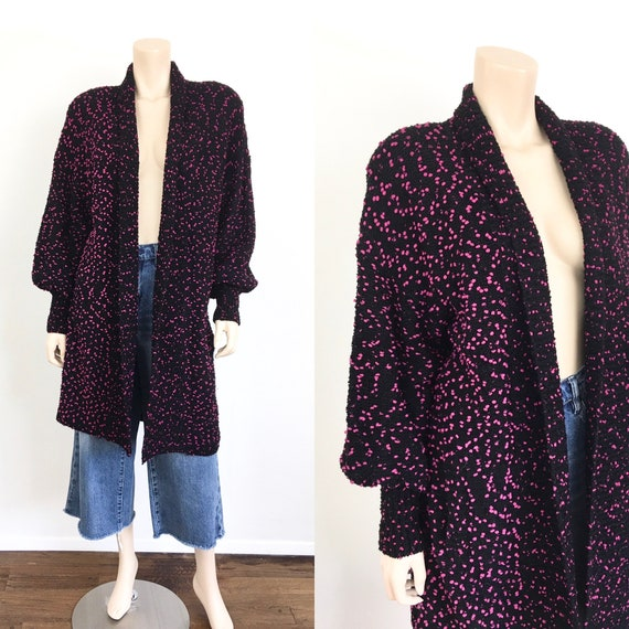 1980s Vintage NUBBY Pink POLKA DOT Loose Fit / Ove