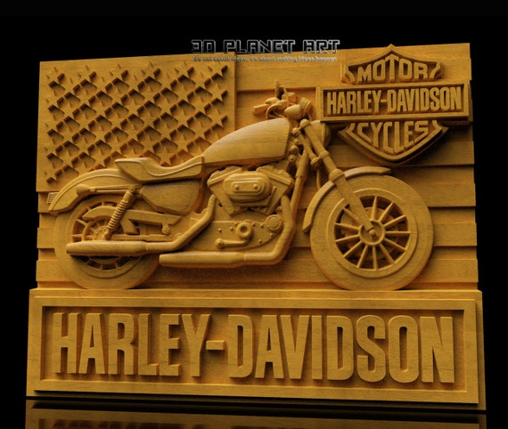 17 3D STL Harley Motorcycles Model for CNC Router Carving Machine Artcam aspire