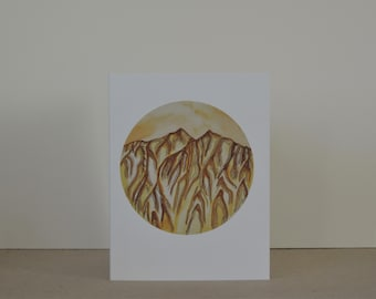 The Raggeds Abstract Landscape A2 Greeting Card
